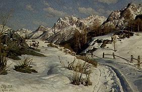 Winter im Engadin 1921