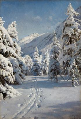 Winterlandschaft bei Morteratsch. 1920