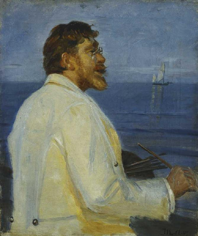 Bildnis des Malers Peder Severin Kroyer von Michael Peter Ancher