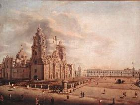 The Catedral Metropolitana and the Palacio Nacional