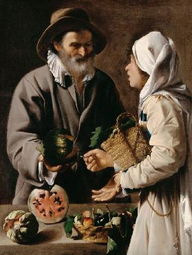 The Fruit Vendor 1615