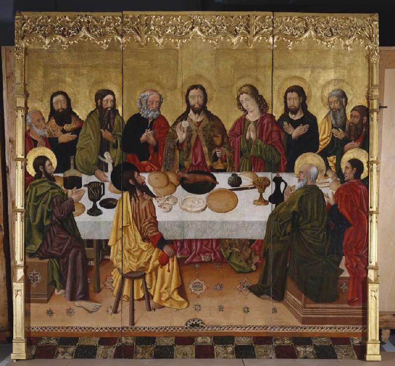 Das letzte Abendmahl. - Perea-Meister, Valencia als Kunstdruck oder ...