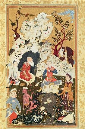 Prince visiting an Ascetic, from ''The Book of Love'', Safavid Dynasty