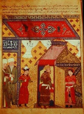 Ms. Supp. Pers. 1113 fol.239 Pavilion tents erected by Ghazan Khan in 1302