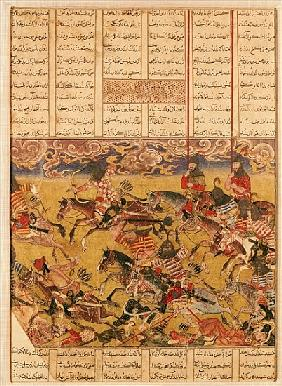 The Charge of the Cavaliers of Faramouz, illustration from the ''Shahnama'' (Book of Kings), Abu''l-
