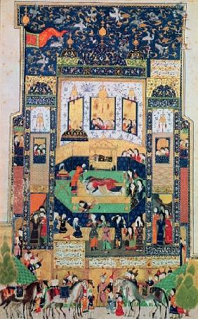 The Death of Shirin, illustration to ''Khosro and Shirin'' Elias Nezami (1140-1209), 1504 (gouache &