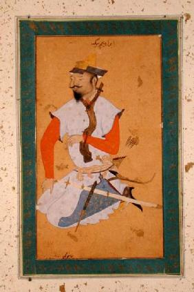 A Turkoman Prisoner of the Mughals, from the Large Clive Album