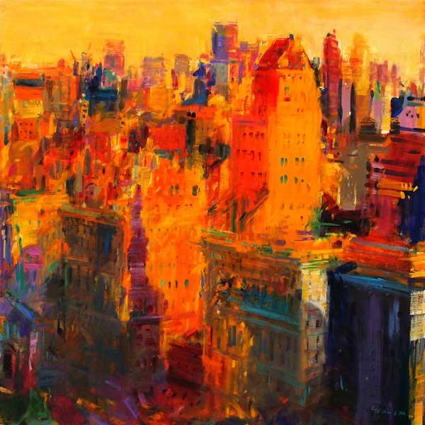 Manhattan Wandfarbe: Peter Graham Als Kunstdruck Oder Handgemaltes
