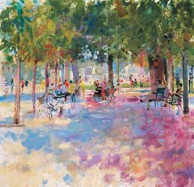 Tuileries, Paris (oil on canvas)