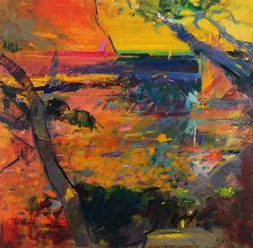 Cap Canaille Sunset (oil on canvas)