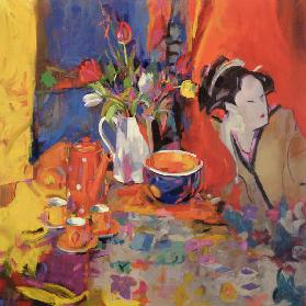 The Magical Table, 2002 (oil on canvas)