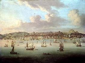 The British Fleet Sailing into Lisbon Harbour 1735