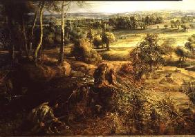 An Autumn Landscape with a view of Het Steen in the Early Morning c.1636