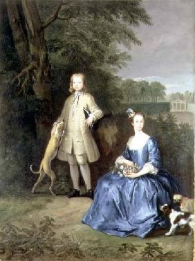 Portrait of Master Edward and Miss Mary Macro c.1733