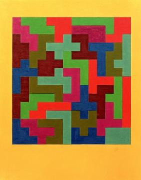 Puzzle II, 1988 (tempera on paper)