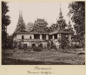 Teik Kyaung monastery, isle of Ka Toe, near Moulmein, Burma, c.1848 (albumen print) (b/w photo)