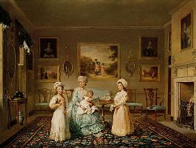Mrs Congreve and her children in their London drawing room
