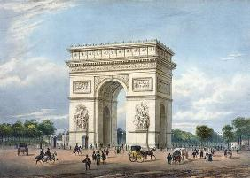 The Arc de Triomphe and the Place de l'Etoile, illustration for 'Promenades dans Paris et ses enviro 07th-