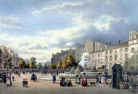 The Fountain of the Boulevard St. Martin, from 'Vue de Paris', c.1840 (colour litho) 15th