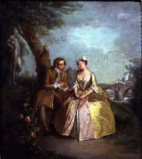 Conversation Piece, or Lovers in a Park c.1727