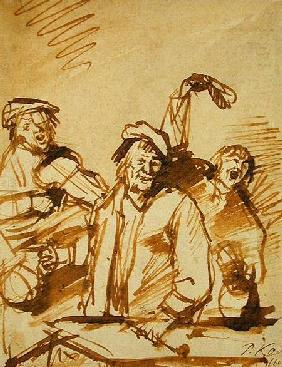 Three Cheerful Young Men 1660  and