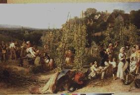 Life in the Hop Garden 1859