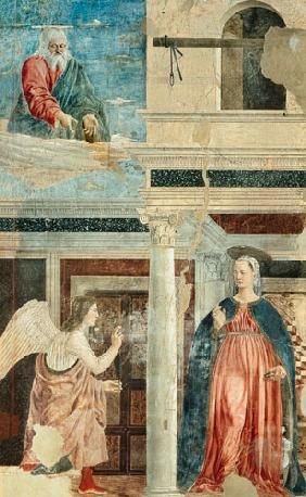 Annunciation, from the True Cross Cycle completed