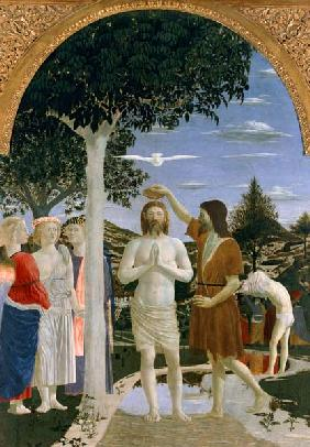 Baptism of Christ (& 2 details) 1450s