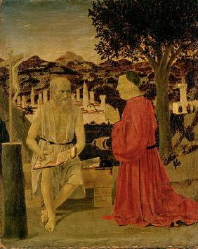 St. Jerome and a Devotee, c.1450 (tempera on panel) 1909