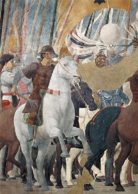 The Legend of the True Cross, detail of the Victory of Constantine at the Battle of the Milvian Brid completed