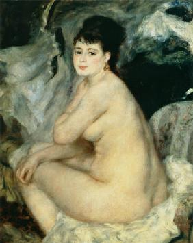 Nude, or Nude Seated on a Sofa 1876