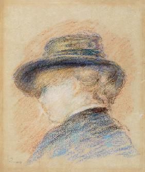 Profile of a Young Woman in a Blue Hat