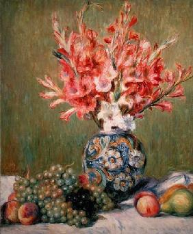 Still life of Fruits and Flowers 1889