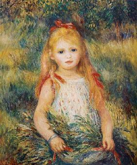 Little Girl Carrying Flowers, or The Little Gleaner 1888