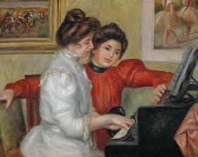Yvonne and Christine Lerolle at the piano 1897