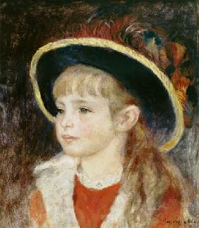 Portrait of a Young Girl in a Blue Hat 1881