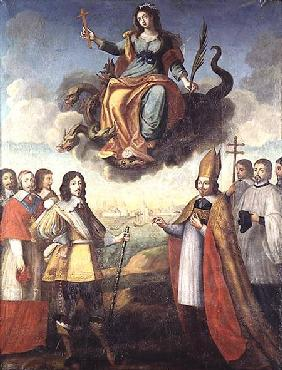 Entry of Louis XIII (1601-43) King of France and Navarre, into La Rochelle 1st Novemb