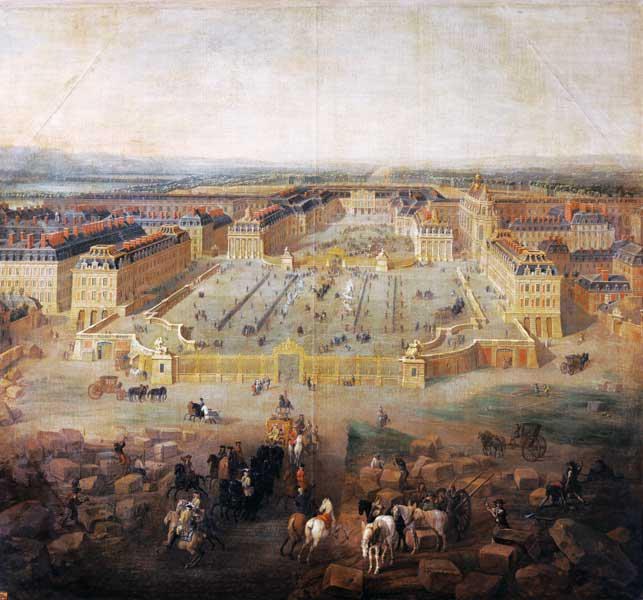 The Chateau de Versailles and the Place d'Armes 1722