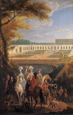 View of the Orangerie at Versailles after 1697