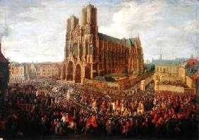 The procession of King Louis XV (1710-74) after his coronation, 26th October 1722 1724