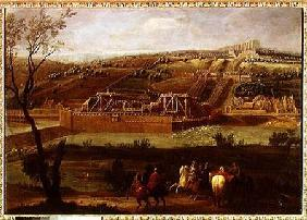 View of the Marly Machine and the Aqueduct at Louveciennes 1722