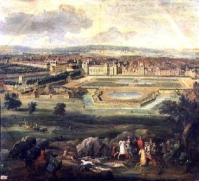 View of the Palace of Fontainebleau from the Parterre of the Tiber 1722
