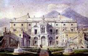 View of a Villa on the Bay of Naples