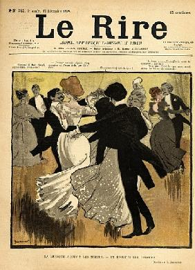 Dancing Couples, from the front cover of ''Le Rire'', 17th December 1898 (colout litho)