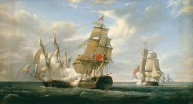 Combat between the French Frigate 'La Canonniere' and the English Vessel 'The Tremendous', 21st Apri 1835