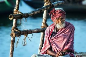 the old man and the Ganges