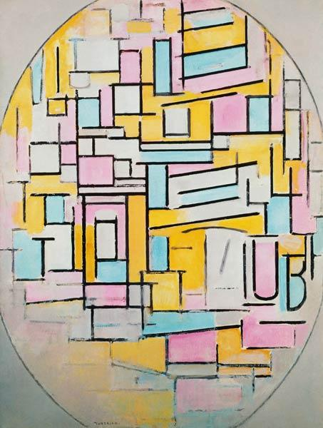 Composition in Oval with Colour Planes 2 1914