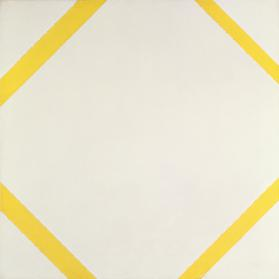 Lozenge Composition with Four Yellow Lines 1933