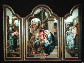 Triptych depicting the Adoration of the Magi c.1600