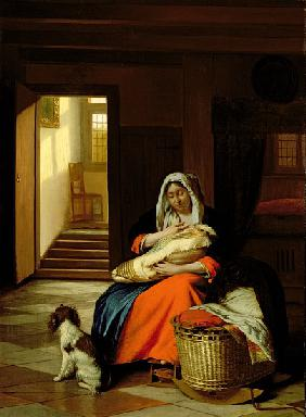 Mother Nursing Her Child, 1674-76